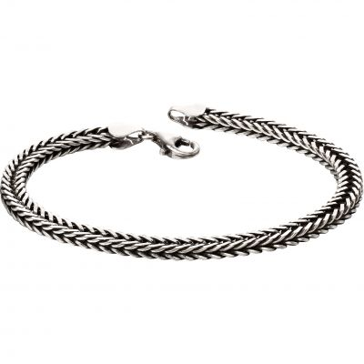 Biżuteria Fred Bennett Oxidised Fox Tail Chain Bracelet B5126