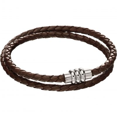 Fred Bennett Knot Leather Bracelet Leather B5132