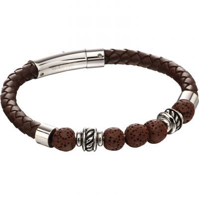 Fred Bennett Lava Bead Leather Bracelet Leather B5141