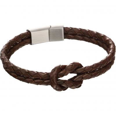 Fred Bennett Double Row Knot Leather Bracelet Leather B5152