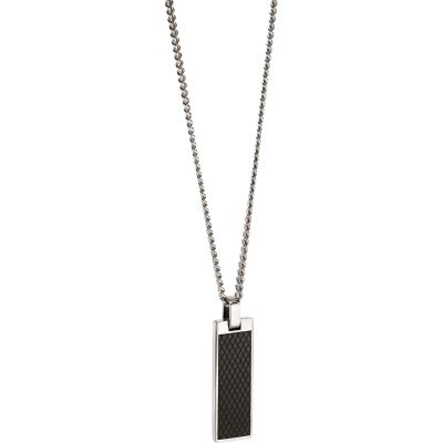 Fred Bennett Textured Dog Tag Necklace Rostfritt stål N4280
