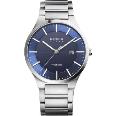 Slim Titanium Solar Watch