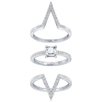Swarovski Funk Ring Set Size 58 5257449