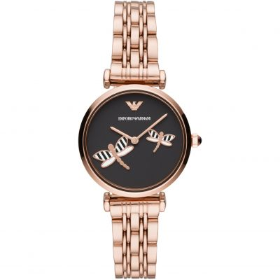 Emporio Armani Gianni T-Bar Damklocka Rose Gold AR11206