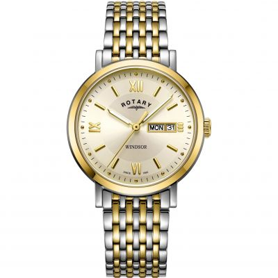 Rotary Windsor Herrklocka Two-Tone Gold GB05301/09