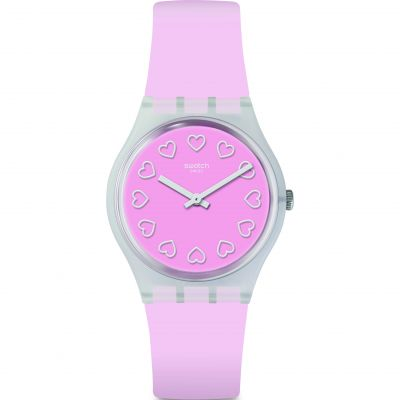 Swatch Love Is In The Air All Pink Damklocka Rosa GE273