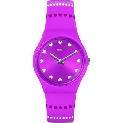 Swatch Love Is In The Air Coeur De Manège Dameshorloge Roze GP160