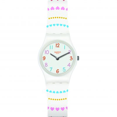 Swatch Love Is In The Air Herzlich Damklocka Vit LW164