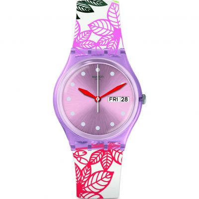 Swatch Transformation Summer Leaves Damklocka Flerfärgad GP702