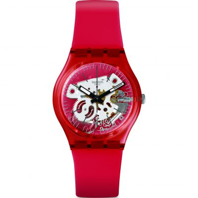 Swatch Transformation Rosso Bianco Unisex horloge Rood GR178