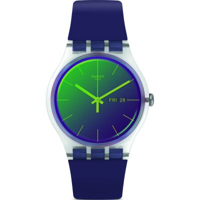 Swatch Transformation Polapurple Unisex horloge Paars SUOK712