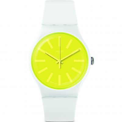 Swatch Transformation Lemoneon Unisex horloge Wit SUOW165