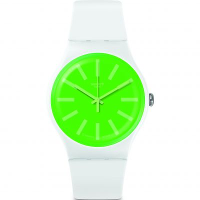 Swatch Transformation Grassneon Unisex horloge Wit SUOW166