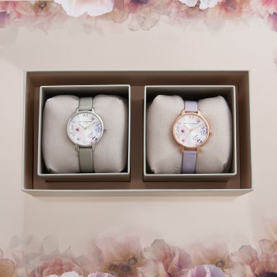 Dual Watch Sunlight Floral Giftset