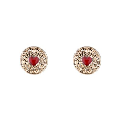 Ladies Ted Baker Brenaa Biscuit Button Stud Earring TBJ1996-30-15