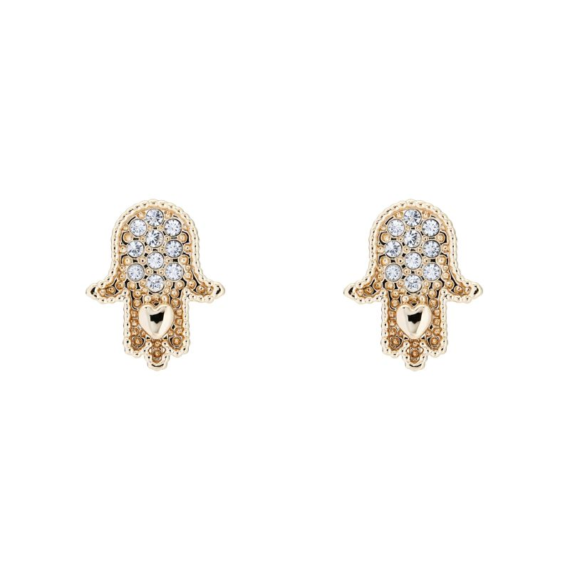 Ladies Ted Baker Hermia Hidden Heart Hand Stud Earring TBJ2059-30-02