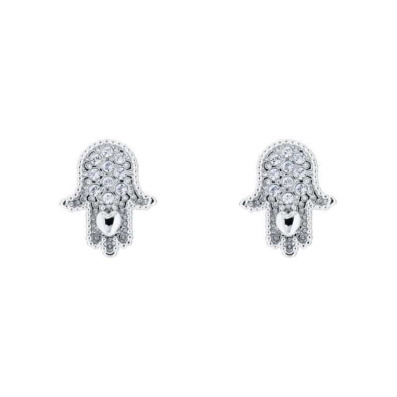 Ladies Ted Baker Hermia Hidden Heart Hand Stud Earring TBJ2059-01-02