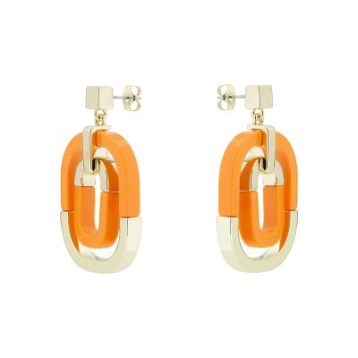 Karen Millen Dames Contrast Pop Earrings Basismetaal KMJ1280-30-50