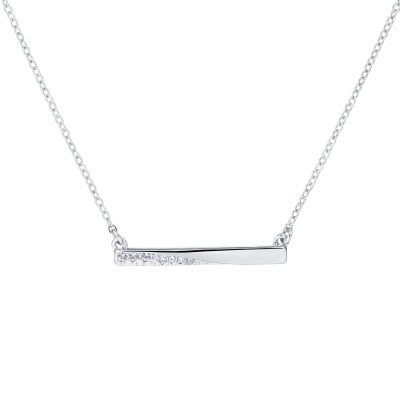 Ladies Karen Millen Crystal Bar Pendant KMJ1259-01-02
