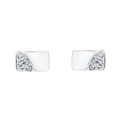Karen Millen Dames Crystal Bar Stud Earrings Basismetaal KMJ1261-01-02