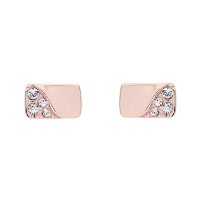 Karen Millen Dames Crystal Bar Stud Earrings Basismetaal KMJ1261-24-02