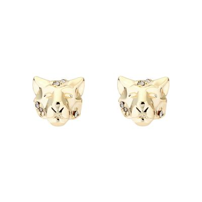 Karen Millen Dames Leopard Stud Earrings Basismetaal KMJ1277-30-23