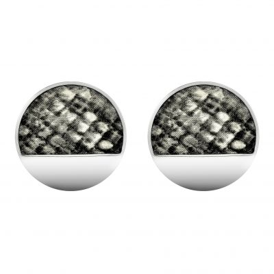 Karen Millen Dames Snake Print Stud Earrings Basismetaal KMJ1303-01-80