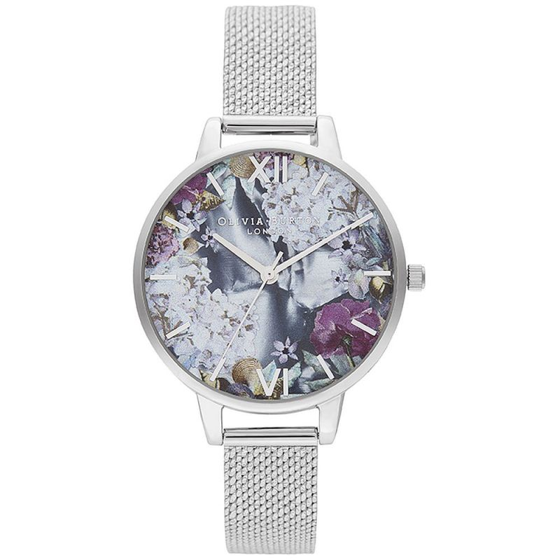 Ladies Olivia Burton Under The Sea Silver Boucle Mesh Watch OB16US11