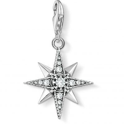Thomas Sabo Dam Royalty Zirconia Star Charm Sterlingsilver 1756-643-14