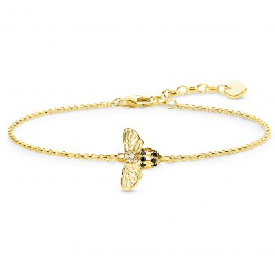 Thomas Sabo Dam Yellow Gold Bee Bracelet Sterlingsilver A1865-414-7-L19V