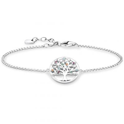 Thomas Sabo Dam Paradise Colours Tree of Love Bracelet Sterlingsilver A1868-477-7-L19V