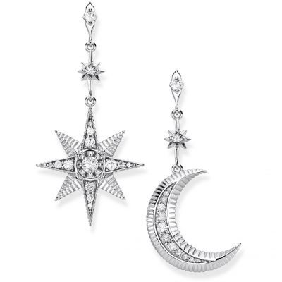 Damen Thomas Sabo Glam & Soul Zirkonia Paradise Colours Star and Moon Ohrringe Sterling-Silber H2026-643-14