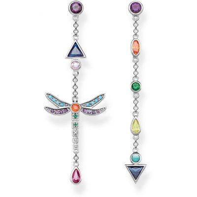 Thomas Sabo Dam Paradise Colours Dragonfly Drop Earrings Sterlingsilver H2033-313-7