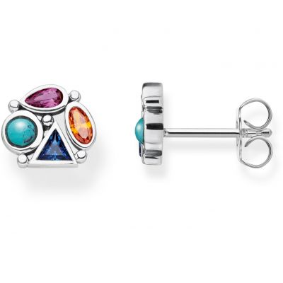 Damen Thomas Sabo Glam & Soul Zirkonia Paradise Colours Multi-colour Stud Ohrringe Sterling-Silber H2034-320-7
