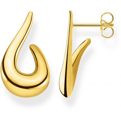 Damen Thomas Sabo Glam & Soul Heritage Fluid Yellow Gold Stud Ohrringe Sterling-Silber H2042-413-39
