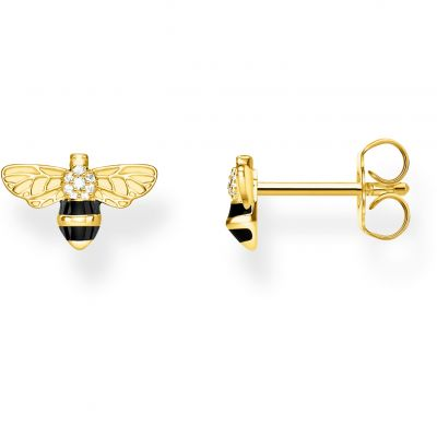 Thomas Sabo Dam Yellow Gold Bee Stud Earrings Sterlingsilver H2052-565-7