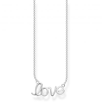 Damen Thomas Sabo Glam & Soul Love Anchor Silver 'Love' Halskette Sterling-Silber KE1847-001-21-L45V