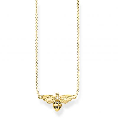 Biżuteria damska Thomas Sabo Jewellery Glam & Soul Yellow Gold Bee Necklace KE1866-414-7-L45V