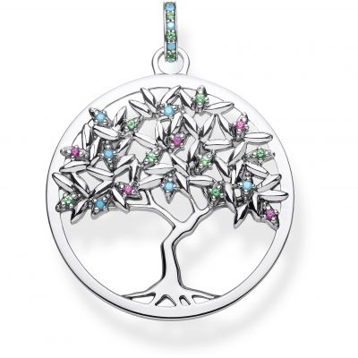 Damen Thomas Sabo Glam & Soul Glass Paradise Colours Tree of Love Anhänger Sterling-Silber PE826-348-7