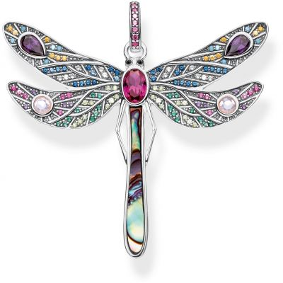 Thomas Sabo Dam Paradise Colours Large Silver Dragonfly Pendant Sterlingsilver PE827-998-7