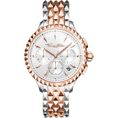 Thomas Sabo Rebel At Heart Damkronograf Rose Gold WA0347-277-201-38MM