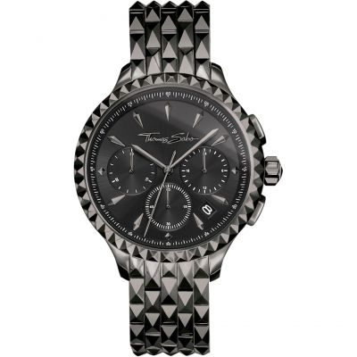 Thomas Sabo Rebel At Heart Damkronograf Svart WA0348-202-203-38MM