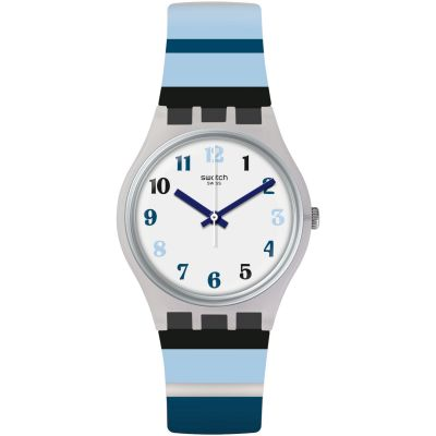 Swatch Original Gent Listen To Me Night Sky Unisexuhr in Blau GE275