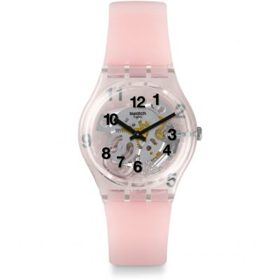 Ladies Swatch Listen To Me Pink Board Watch GP158