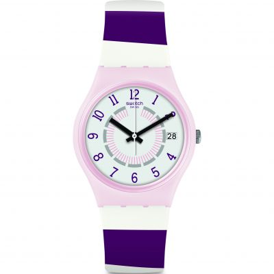 Swatch Original Gent Listen To Me Miss Yacht Damenuhr in Zweifarbig GP402