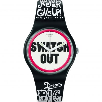 Swatch Listen To Me Listen To Me Swatch Out Herrenuhr in Zweifarbig SUOB160