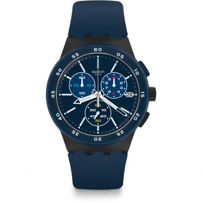 Montre Homme Swatch Chrono Plastic Blue Steward SUSB417