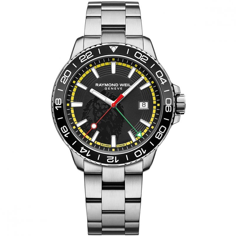 Mens Raymond Weil Tango GMT Bob Marley Limited Edition Watch