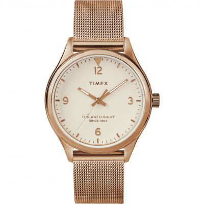 Timex Waterbury Traditional Dameshorloge Rose Gold TW2T36200