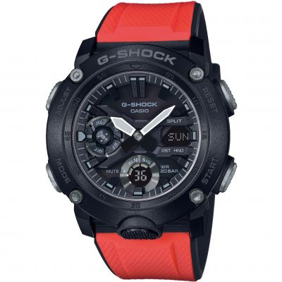 Mens Casio G-Shock G-Carbon Chronograph Gift Set Watch GA-2000E-4ER